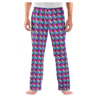 Mens Pyjama Bottoms Tile Pattern 3