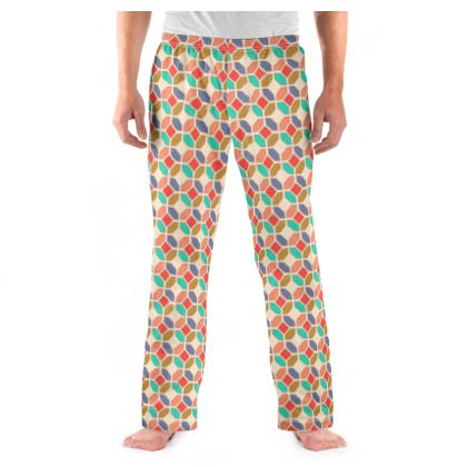 Mens Pyjama Bottoms Tile Pattern 4