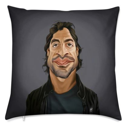 Javier Bardem Celebrity Caricature Cushion