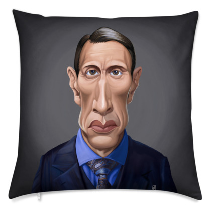 Mads Mikkelsen Celebrity Caricature Cushion
