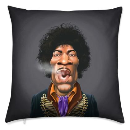 Jimi Hendrix Celebrity Caricature Cushion