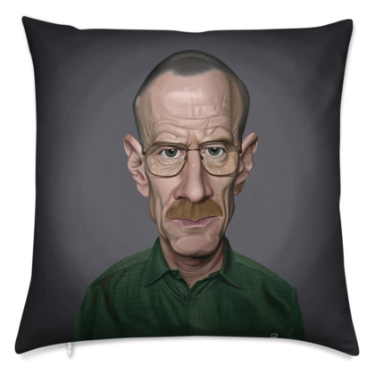 Bryan Cranston Celebrity Caricature Cushion