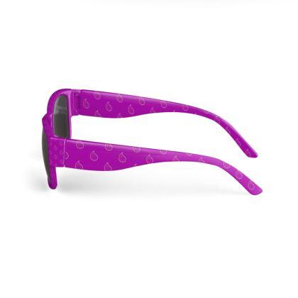 Paisley Drops on purple Sunglasses
