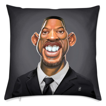 Will Smith Celebrity Caricature Cushion