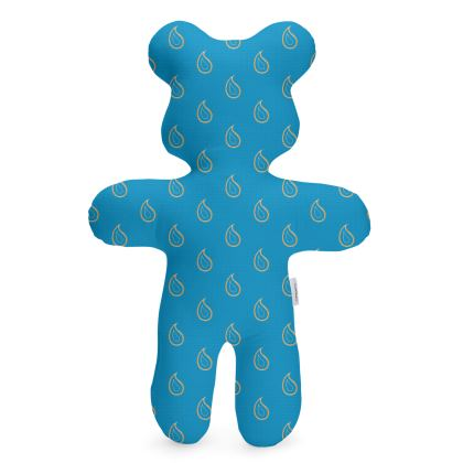 Paisley Drops on Petrol Blue Teddy Bear