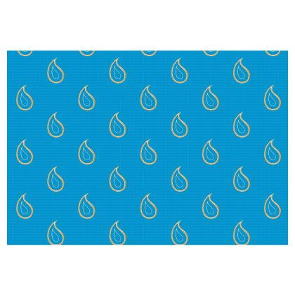Paisley Drops on Petrol Blue Occasional Chair