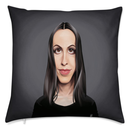 Alanis Morissette Celebrity Caricature Cushion