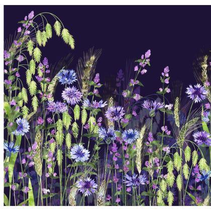Midnight Field of Fantasia Luxury Cushion