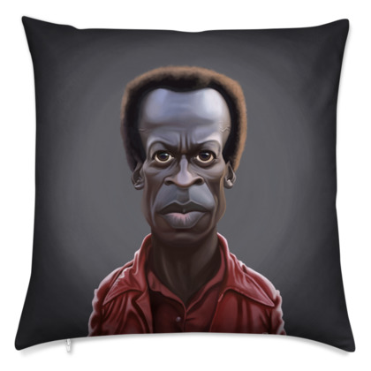 Miles Davis Celebrity Caricature Cushion