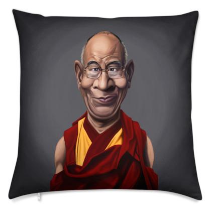 Dalai Lama Celebrity Caricature Cushion