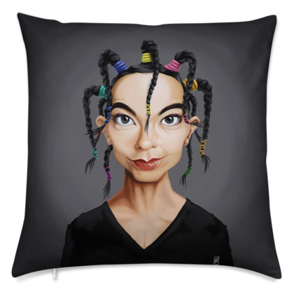 Björk Celebrity Caricature Cushion