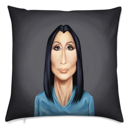 Cher Celebrity Caricature Cushion