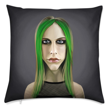 Avril Lavigne Celebrity Caricature Cushion