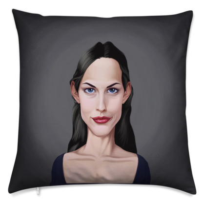 Liv Tyler Celebrity Caricature Cushion