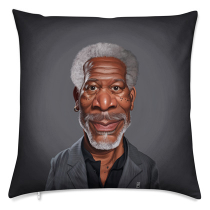 Morgan Freeman Celebrity Caricature Cushion