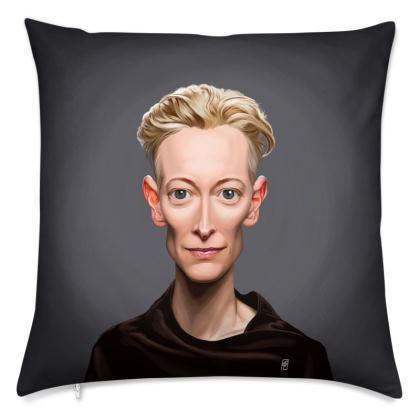 Tilda Swinton Celebrity Caricature Cushion