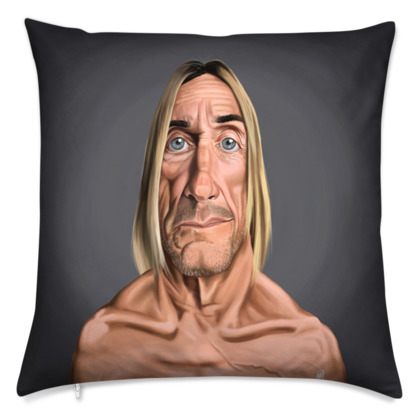 Iggy Pop Celebrity Caricature Cushion