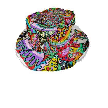 Pop Art Sweet Girl Bucket Hat With Visor by Azima