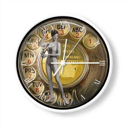 Bathing Beauty Fob Watch Phone Clock