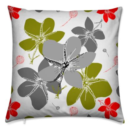 Soft cushion. Tropical flower