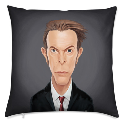 David Bowie Celebrity Caricature Cushion