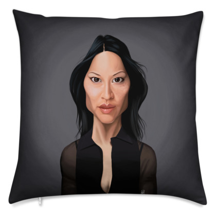 Lucy Liu Celebrity Caricature Cushion