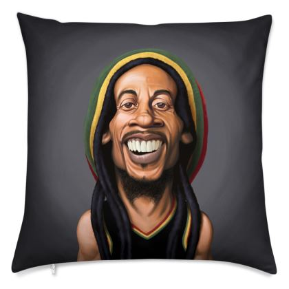 Bob Marley Celebrity Caricature Cushion