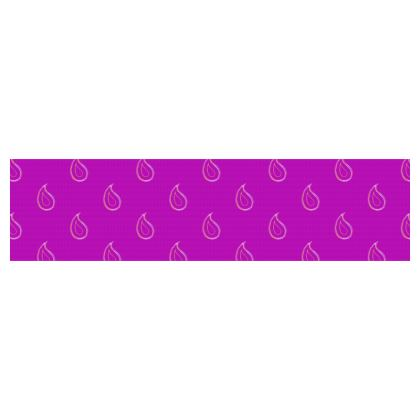 Paisley Drops on purple Cup And Saucer