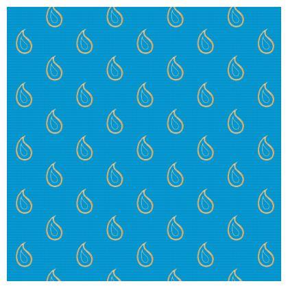 Paisley Drops on Petrol Blue Luxury Cushions