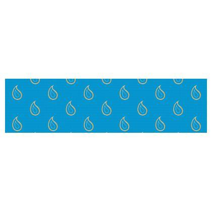 Paisley Drops on Petrol Blue Drum Lamp Shade
