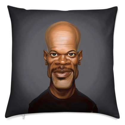 Samuel L Jackson Celebrity Caricature Cushion
