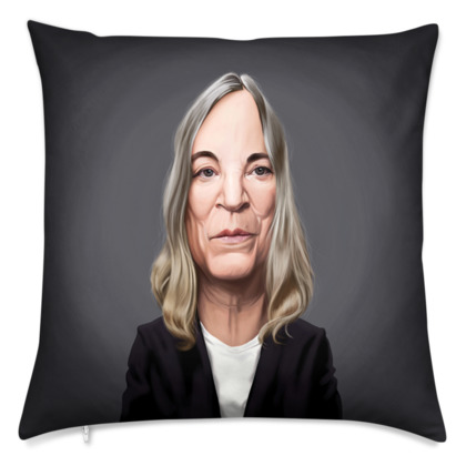 Patti Smith Celebrity Caricature Cushion