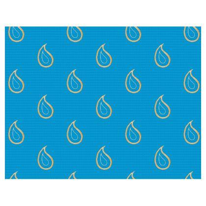 Paisley Drops on Petrol Blue Handbags
