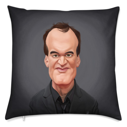 Quentin Tarantino Celebrity Caricature Cushion