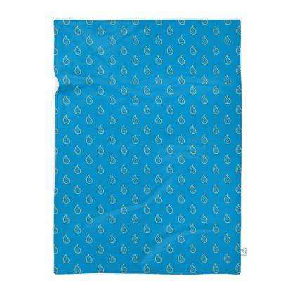 Paisley Drops on Petrol Blue Blanket