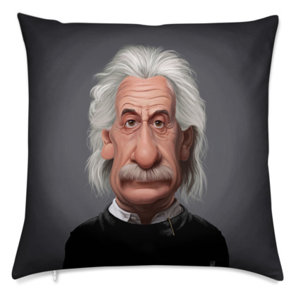Albert Einstein Celebrity Caricature Cushion