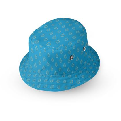 Paisley Drops on Petrol Blue Bucket Hat