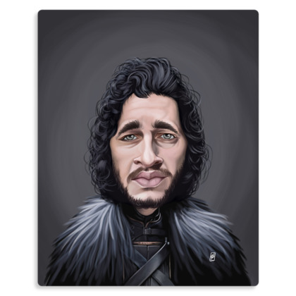 Kit Harington Celebrity Caricature Metal Print