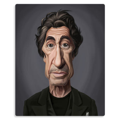 Al Pacino Celebrity Caricature Metal Print