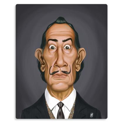 Salvador Dali Celebrity Caricature Metal Print