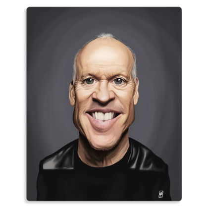 Michael Keaton Celebrity Caricature Metal Print
