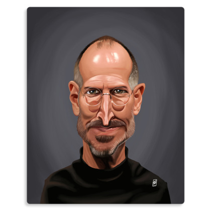 Steve Jobs Celebrity Caricature Metal Print