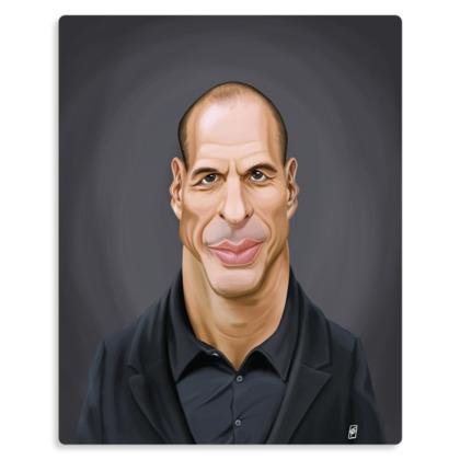 Janis Varoufakis Celebrity Caricature Metal Print