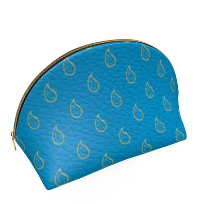 Paisley Drops on Petrol Blue Shell Coin Purse
