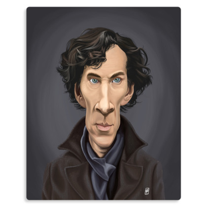 Benedict Cumberbatch Celebrity Caricature Metal Print