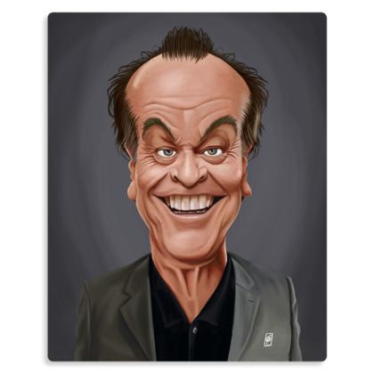 Jack Nicholson Celebrity Caricature Metal Print