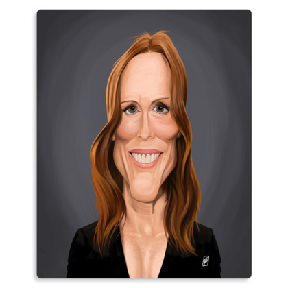Julianne Moore Celebrity Caricature Metal Print