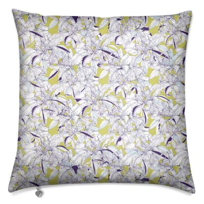 Luxury Abstract Lily Cushion