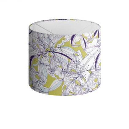 Abstract Lily Drum Lamp Shade