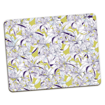 Abstract Lily Placemats